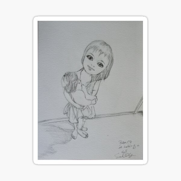 My Dolly (Pencil drawing) Sticker