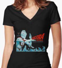 Ultraman (version 4) Women's Fitted V-Neck T-Shirt