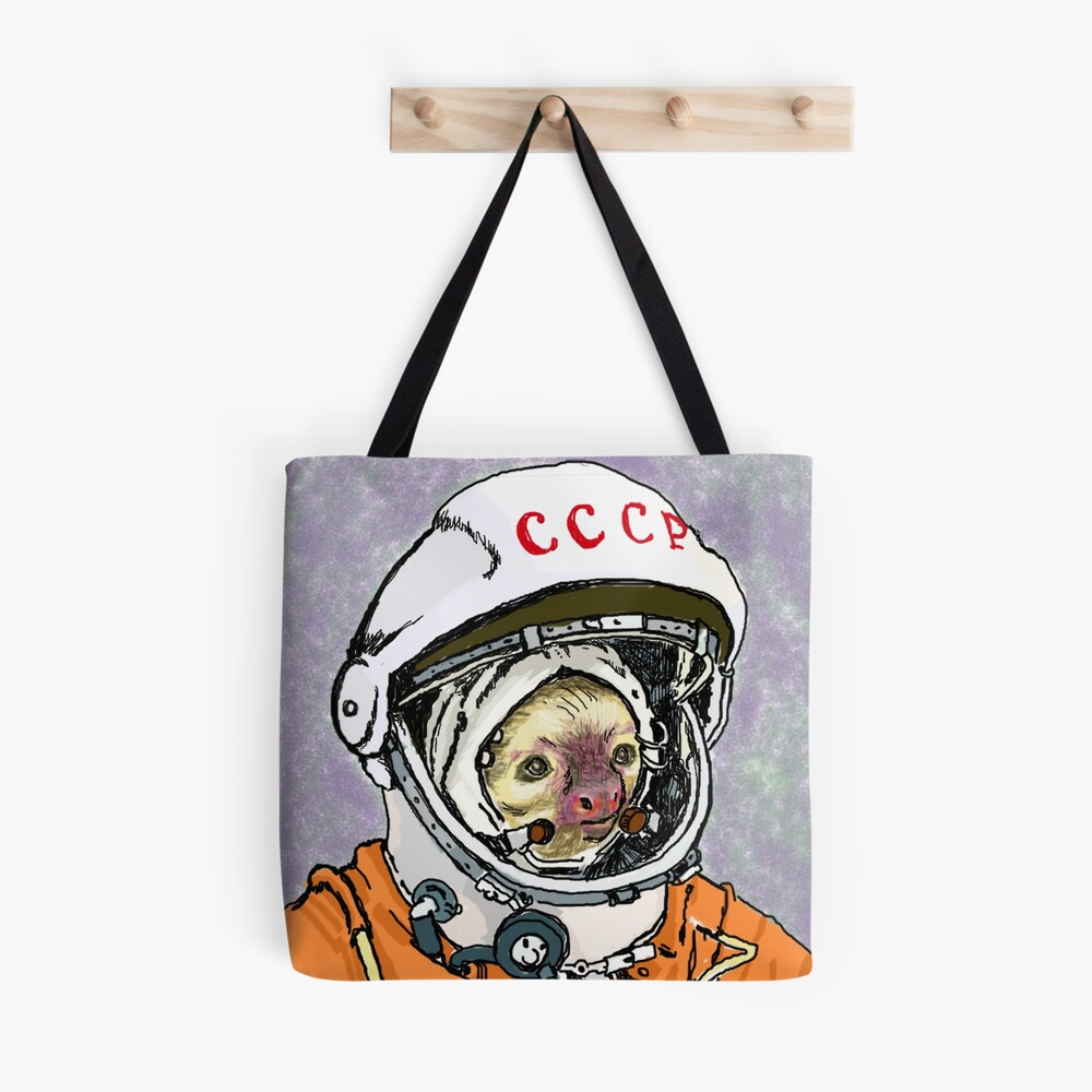 Cosmonaut Sloth Tote Bag