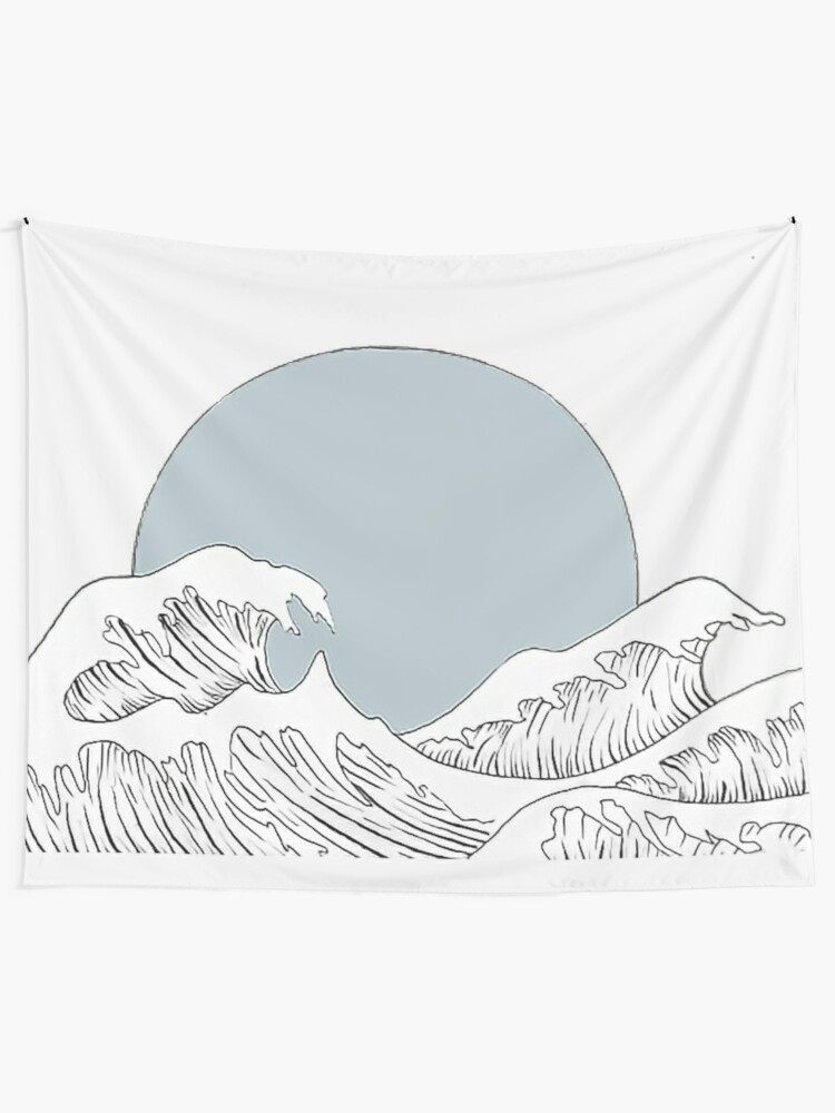 Alternate view of Waves Crash Down Tapestry