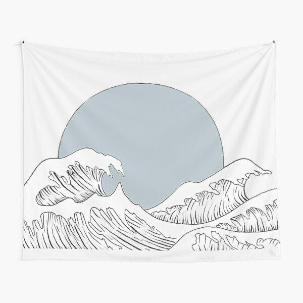 Waves Crash Down Tapestry