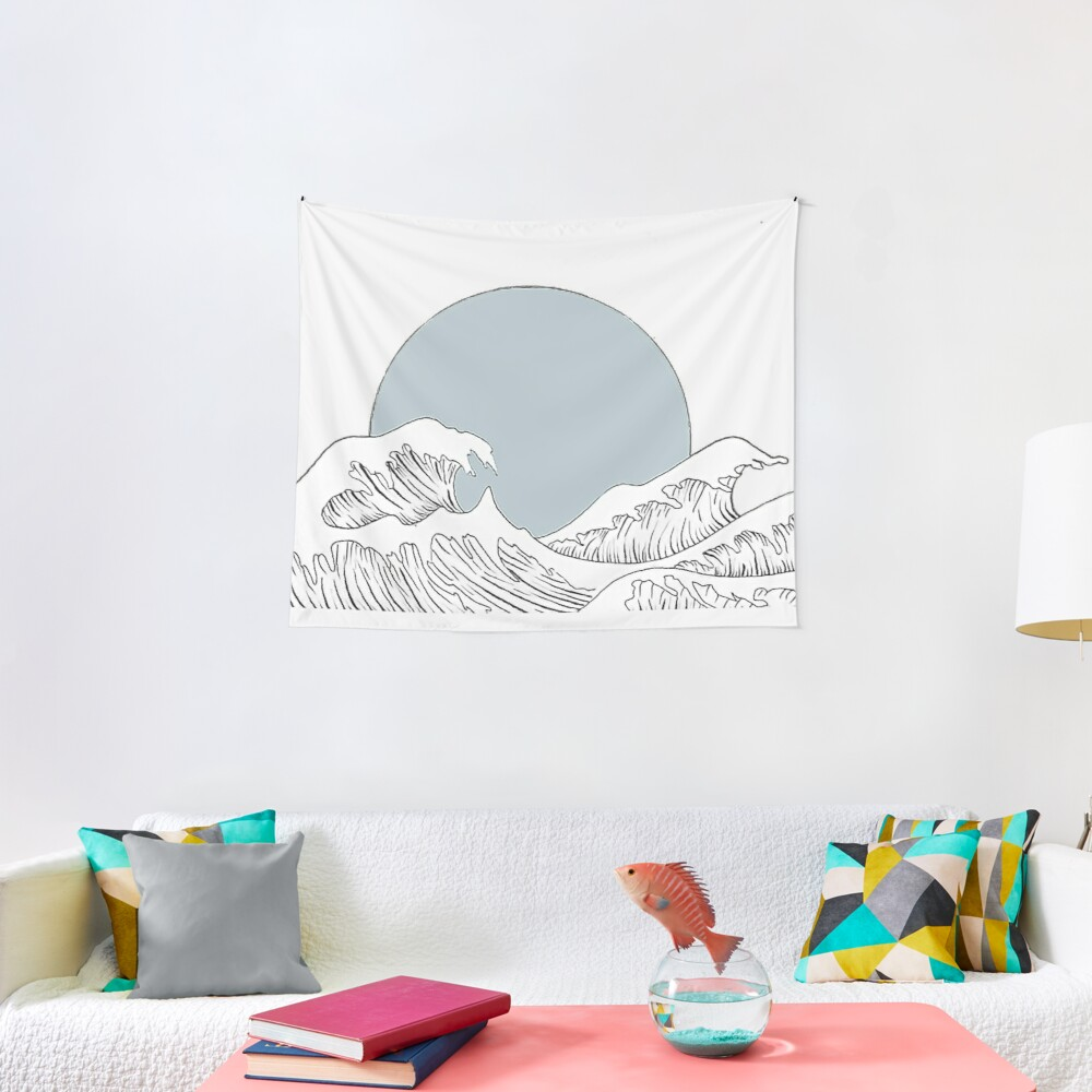 Waves Crash Down Tapestry