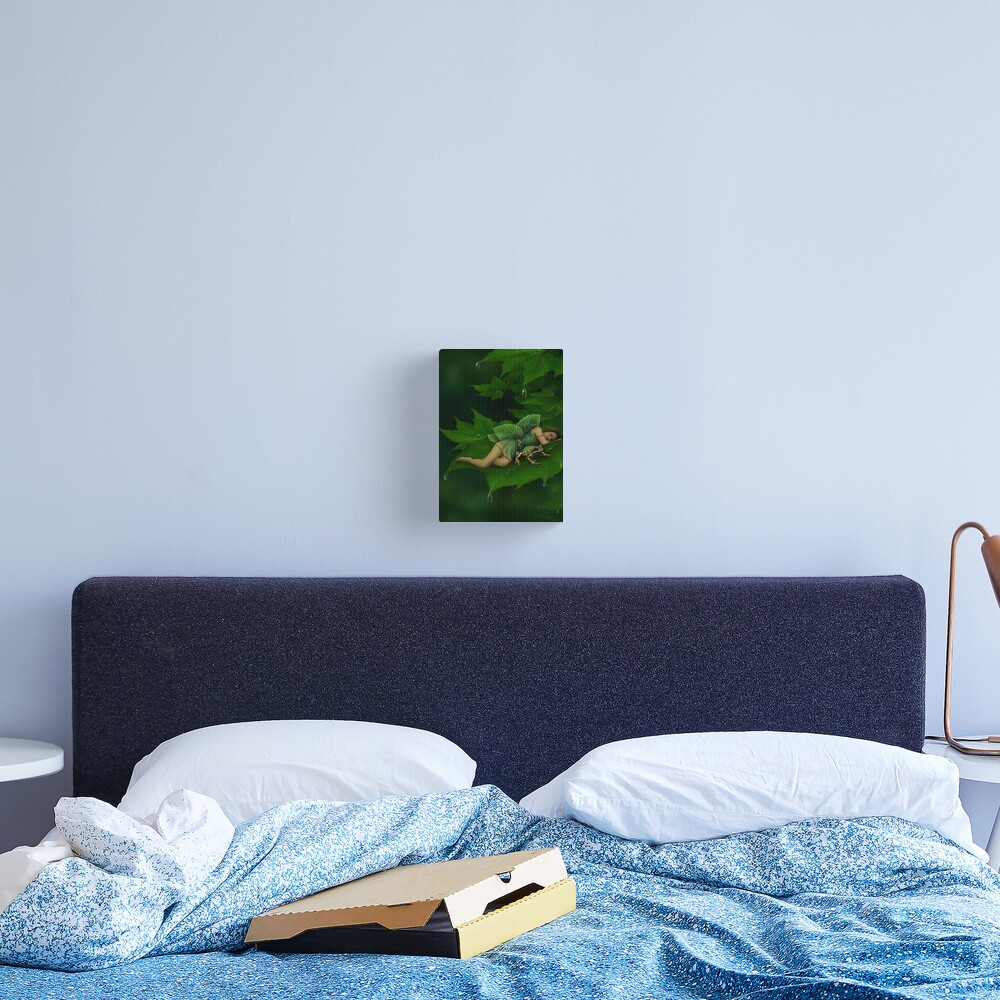 A Fairy Garden Nap Canvas Print