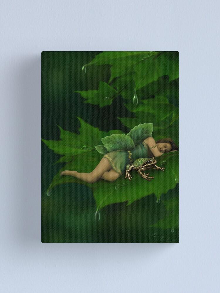 Alternate view of A Fairy Garden Nap Canvas Print