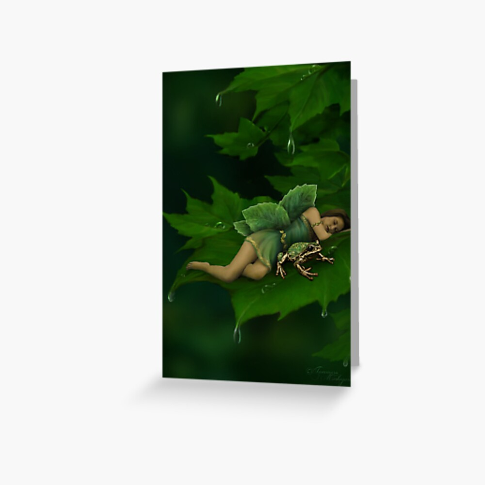 A Fairy Garden Nap Greeting Card