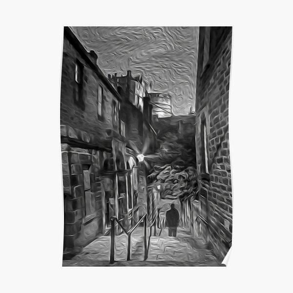Edinburgh Castle Digital Art Poster