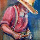 A Portrait A Day 23 - Blacksmith by Yevgenia Watts