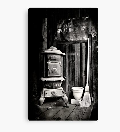 Porch Stove Canvas Print
