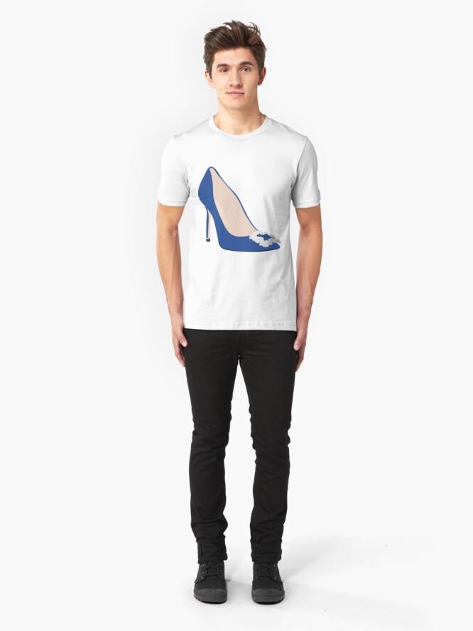 Alternate view of Designer Blue Heel Slim Fit T-Shirt