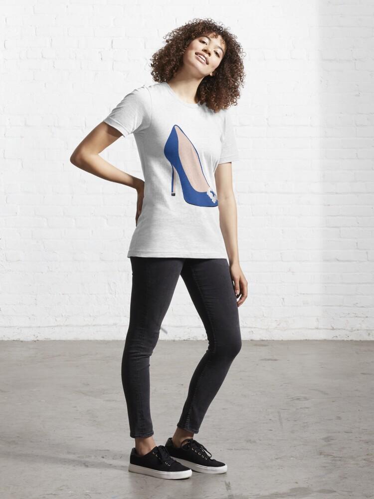 Alternate view of Designer Blue Heel Essential T-Shirt