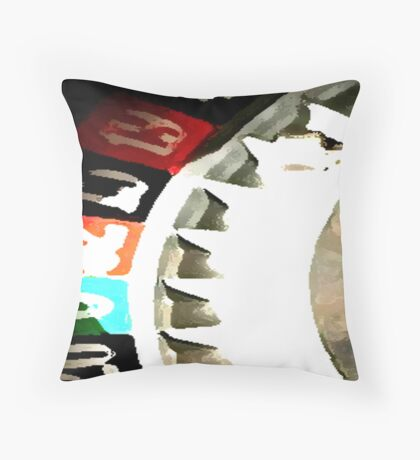 red 12 Throw Pillow