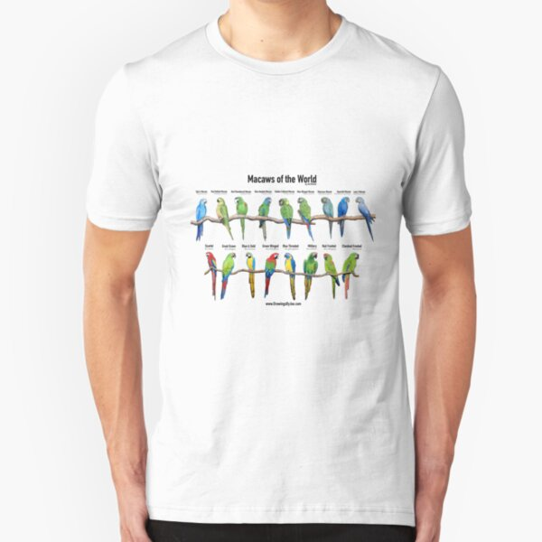 Macaws of the World Slim Fit T-Shirt