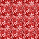 Snowflakes in Reds by Sarinilli