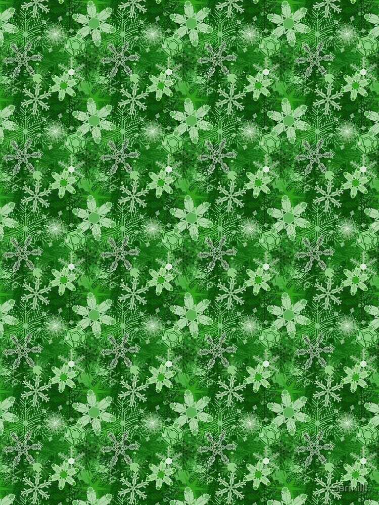 Snowflakes in Greens by Sarinilli