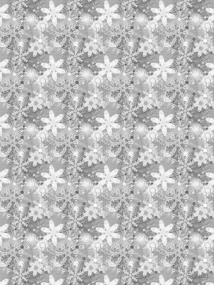 Snowflakes in Silvers by Sarinilli