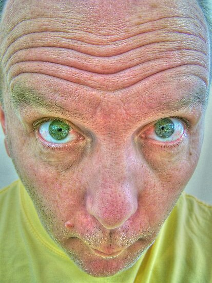 Man with bulging eyes by gregorydean