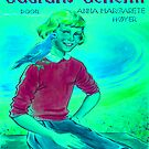 Girl enjoying the company of a wild feathered friend by kj dePace'