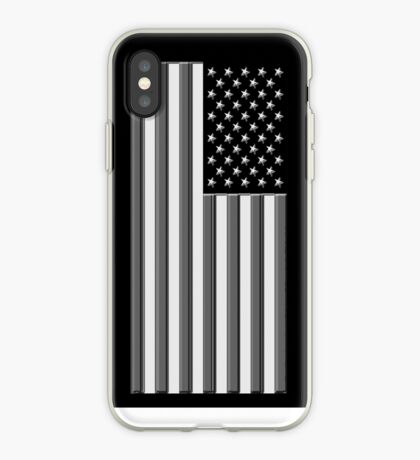 America in black and white iPhone Case