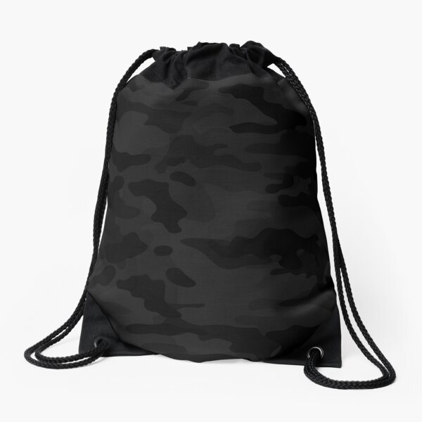 Midnight Camo Drawstring Bag