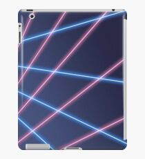 80er Jahre Laser Hintergrund iPad-Hülle & Klebefolie