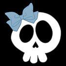 Bow Skull Blue by DeliriumLina