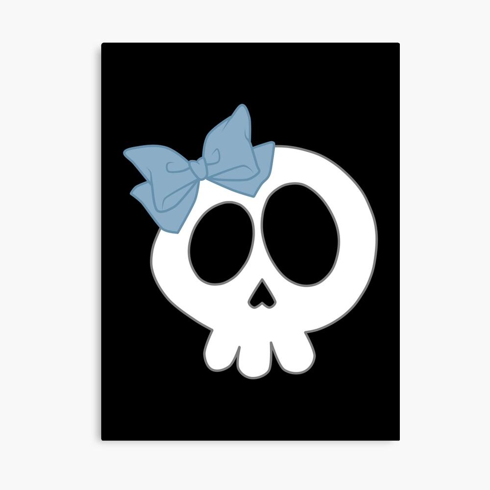 Bogenschädel Blau Leinwanddruck