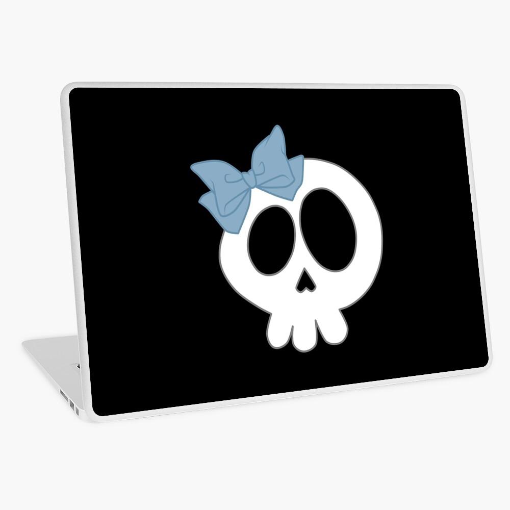 Bogenschädel Blau Laptop Folie