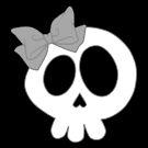 Bow Skull Gray by DeliriumLina
