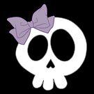 Bow Skull Purple by DeliriumLina
