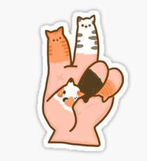 Katzenfinger Frieden Sticker