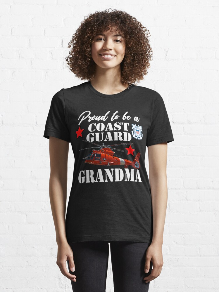 Alternate view of Proud To Be A Coast Guard Grandma Essential T-Shirt