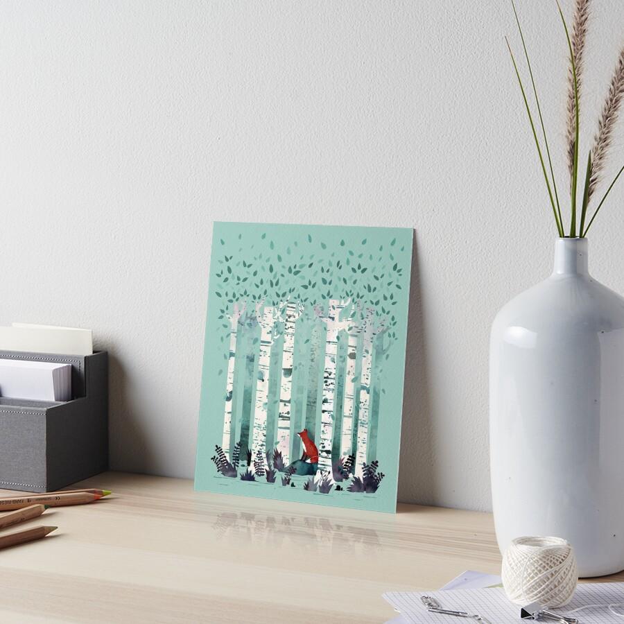 The Birches Art Board Print
