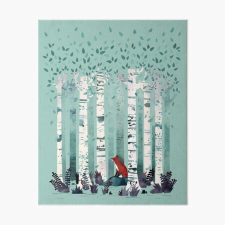 The Birches Art Board Print