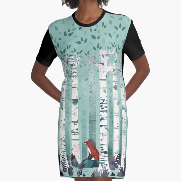 The Birches Graphic T-Shirt Dress