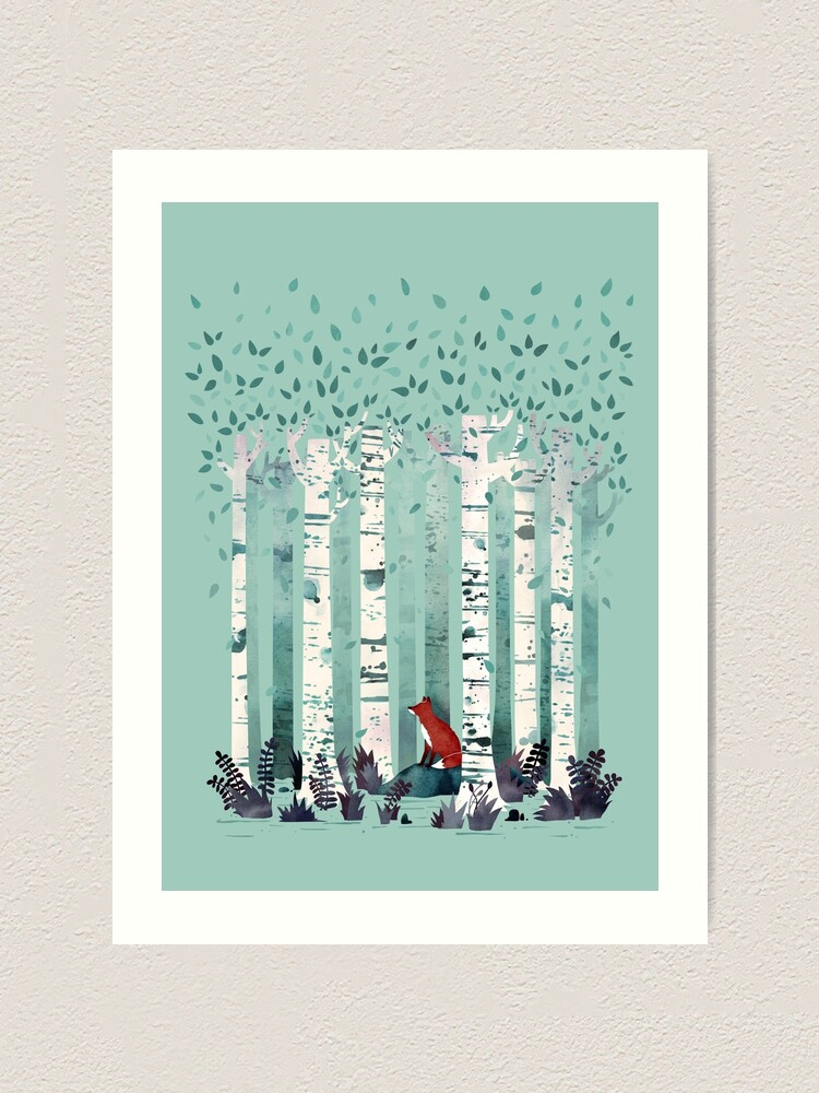 Alternate view of The Birches Art Print