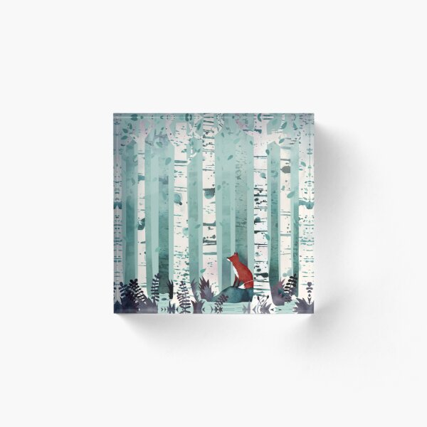 The Birches Acrylic Block