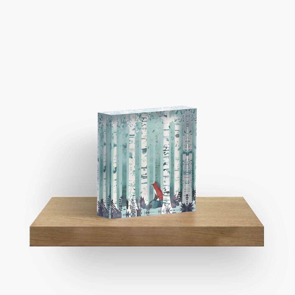 The Birches Acrylic Block