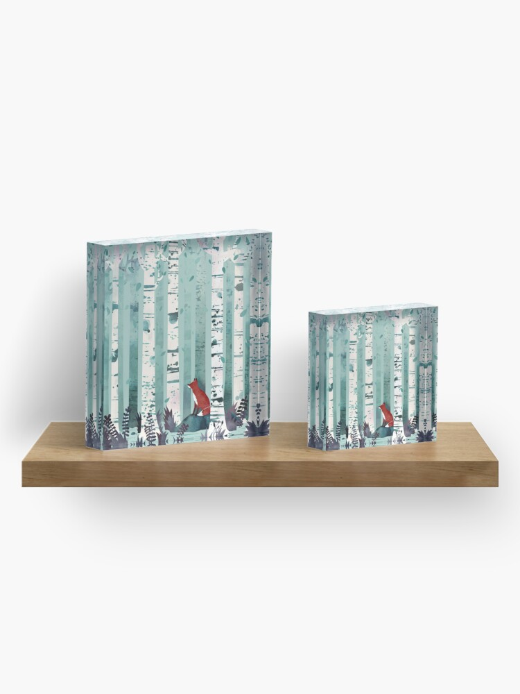Alternate view of The Birches Acrylic Block