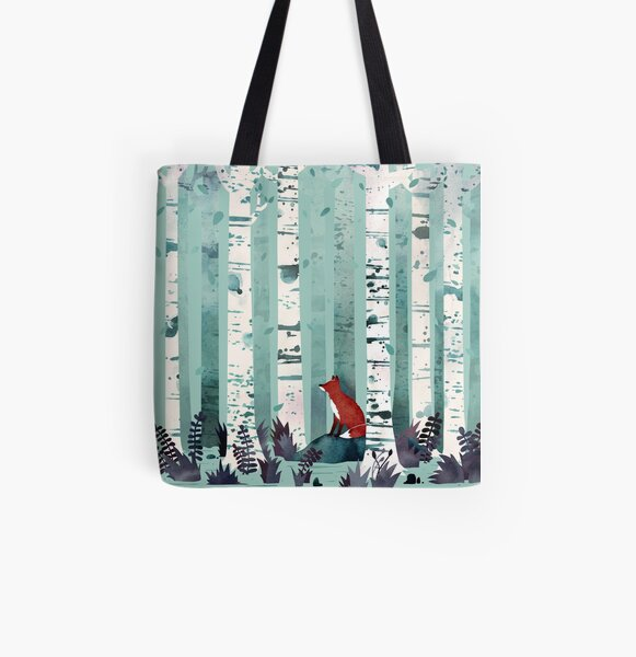 The Birches All Over Print Tote Bag