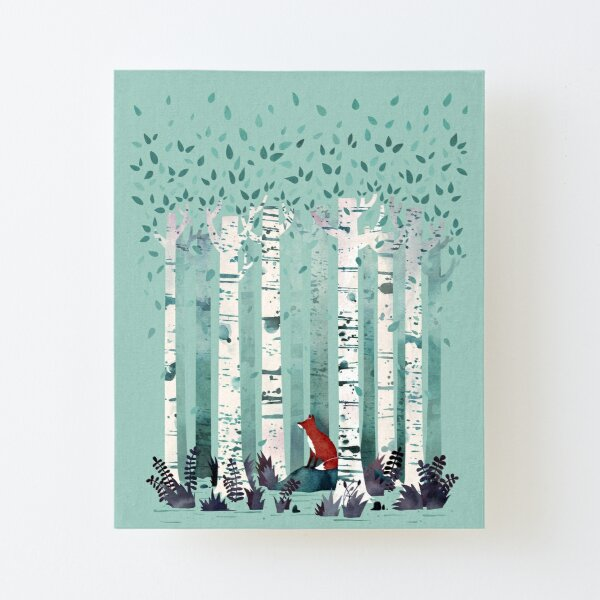 The Birches Canvas Mounted Print