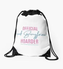 Book Boyfriend Hoarder Drawstring Bag