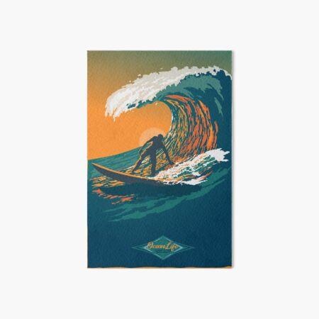 Ocean Life Surf Club retro surf poster  Art Board Print