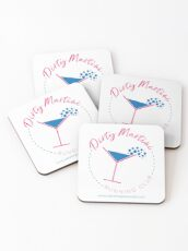 Dirty Martini Running Club Coasters