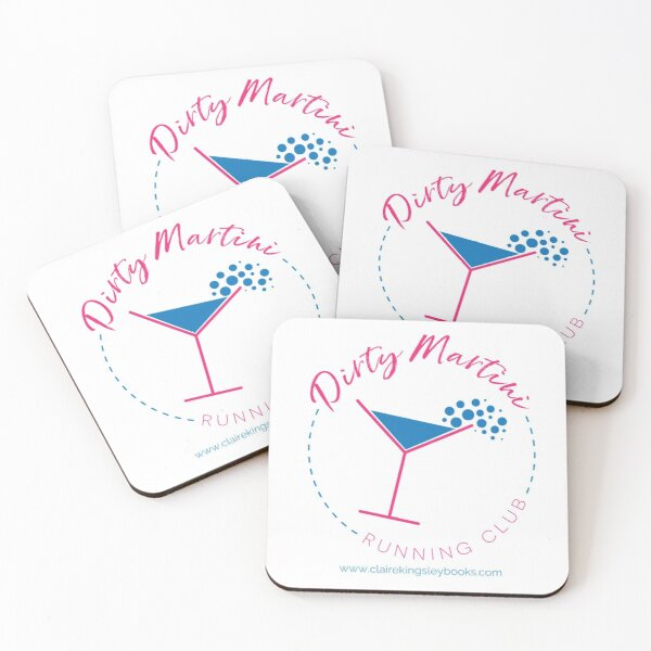 Dirty Martini Running Club Coasters (Set of 4)