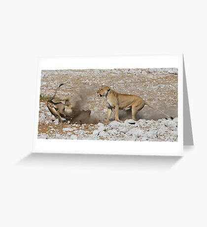 Establishing Dominance  Greeting Card