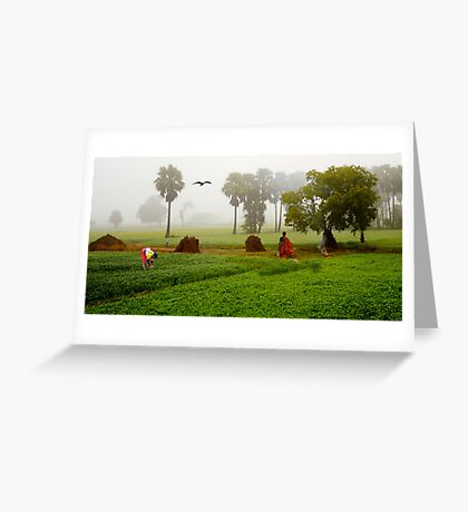 The Village Life Greeting Card