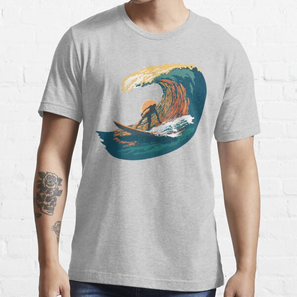 Ocean Life Surf Club retro surf poster  Essential T-Shirt
