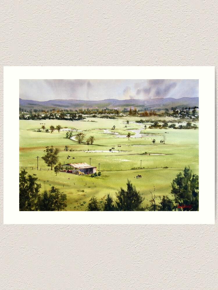 Alternate view of From Streeton Lookout, Freemans Reach Art Print