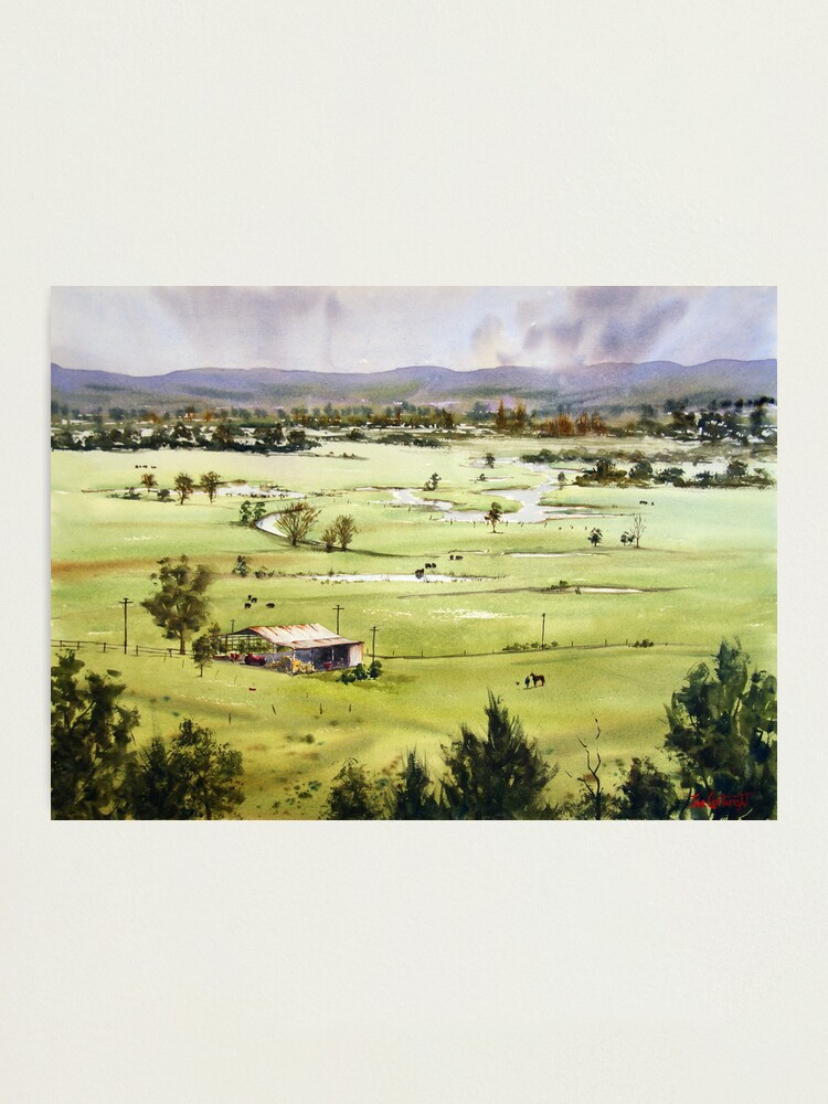Alternate view of From Streeton Lookout, Freemans Reach Photographic Print