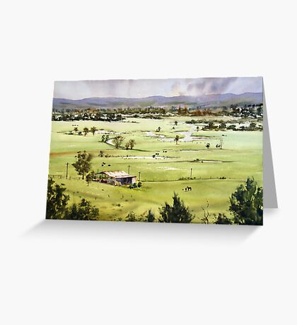 From Streeton Lookout, Freemans Reach Greeting Card